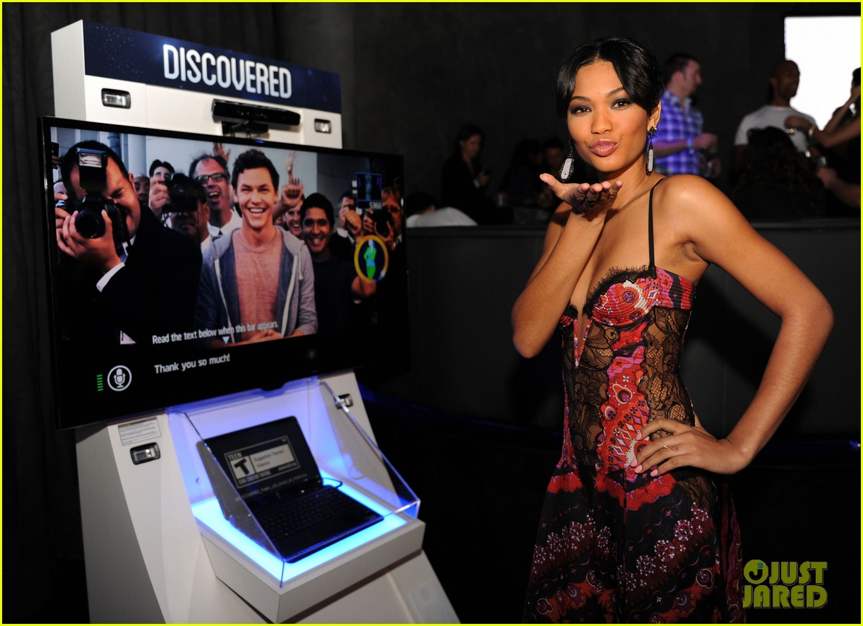 chris evans discovered launch chanel iman 052739935