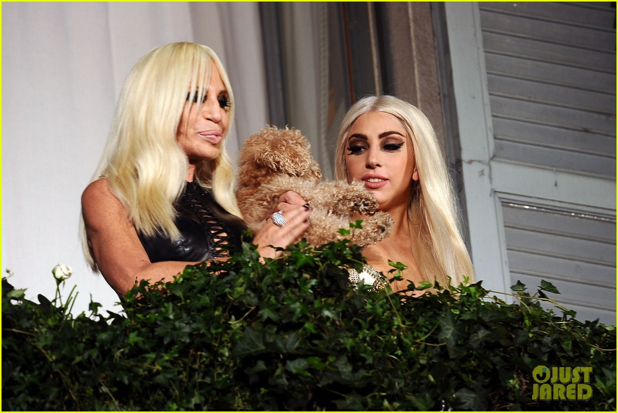 lady gaga donatella versace meet in milan 142731466