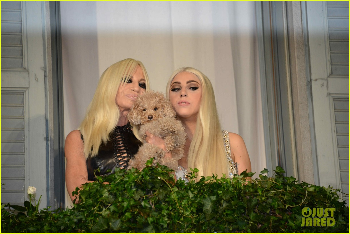 lady gaga donatella versace meet in milan 222731474