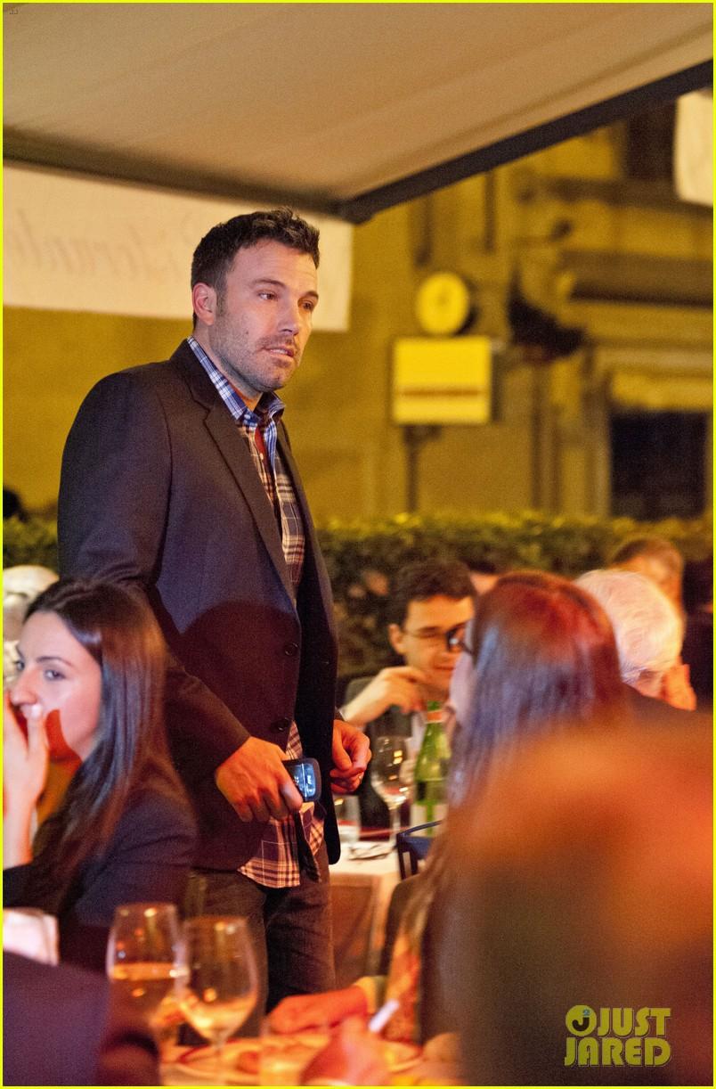 jennifer garner ben affleck girls day dinner rome 092741177