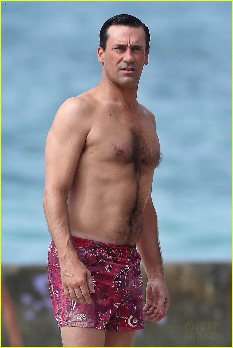 jon hamm shirtless mad men beach scenes in hawaii 022744465
