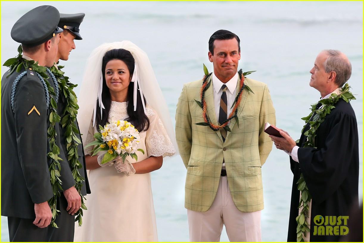 jon hamm jessica pare beach wedding for mad men 022744924