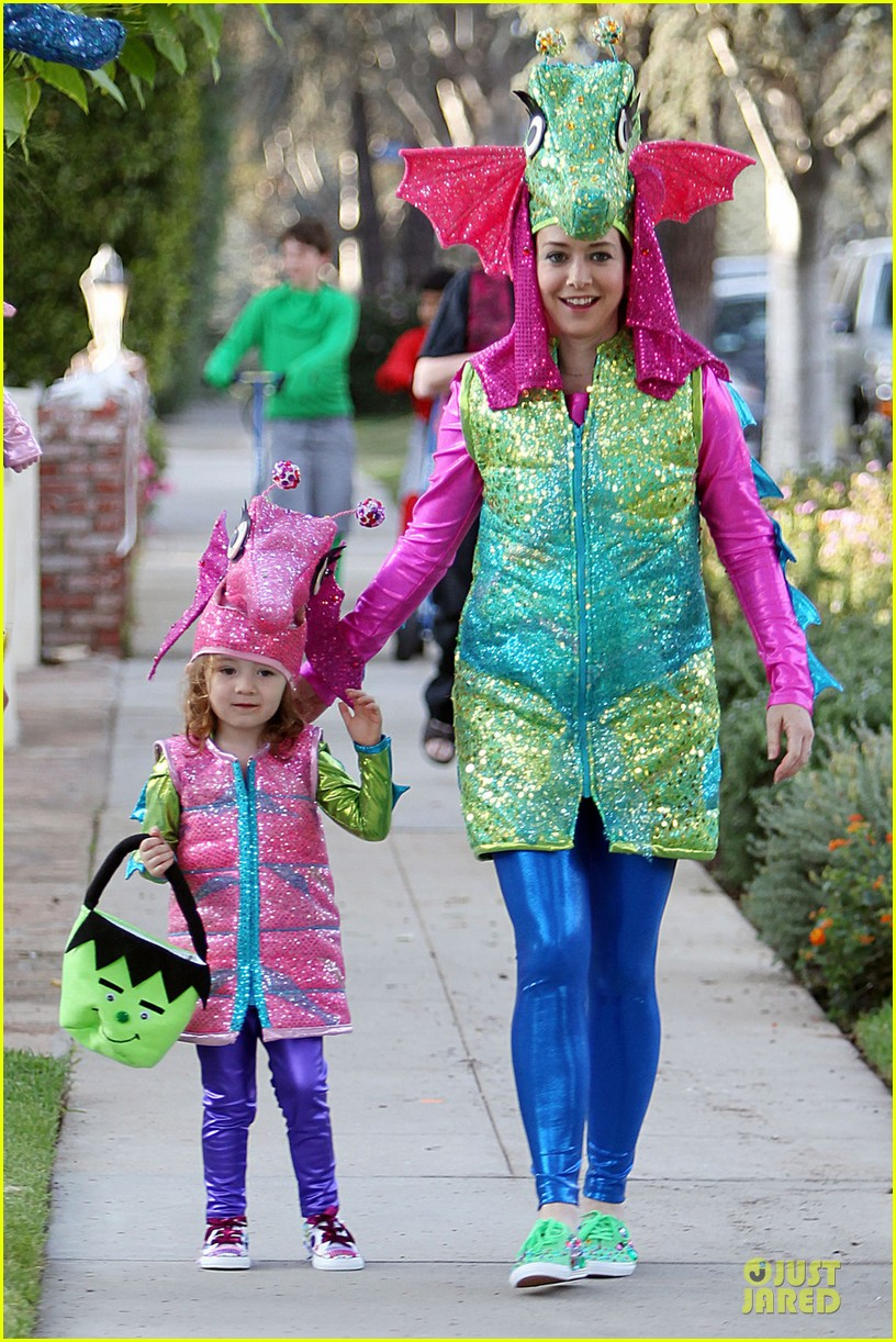 alyson hannigan alexis denisof seahorse halloween couple 072749051