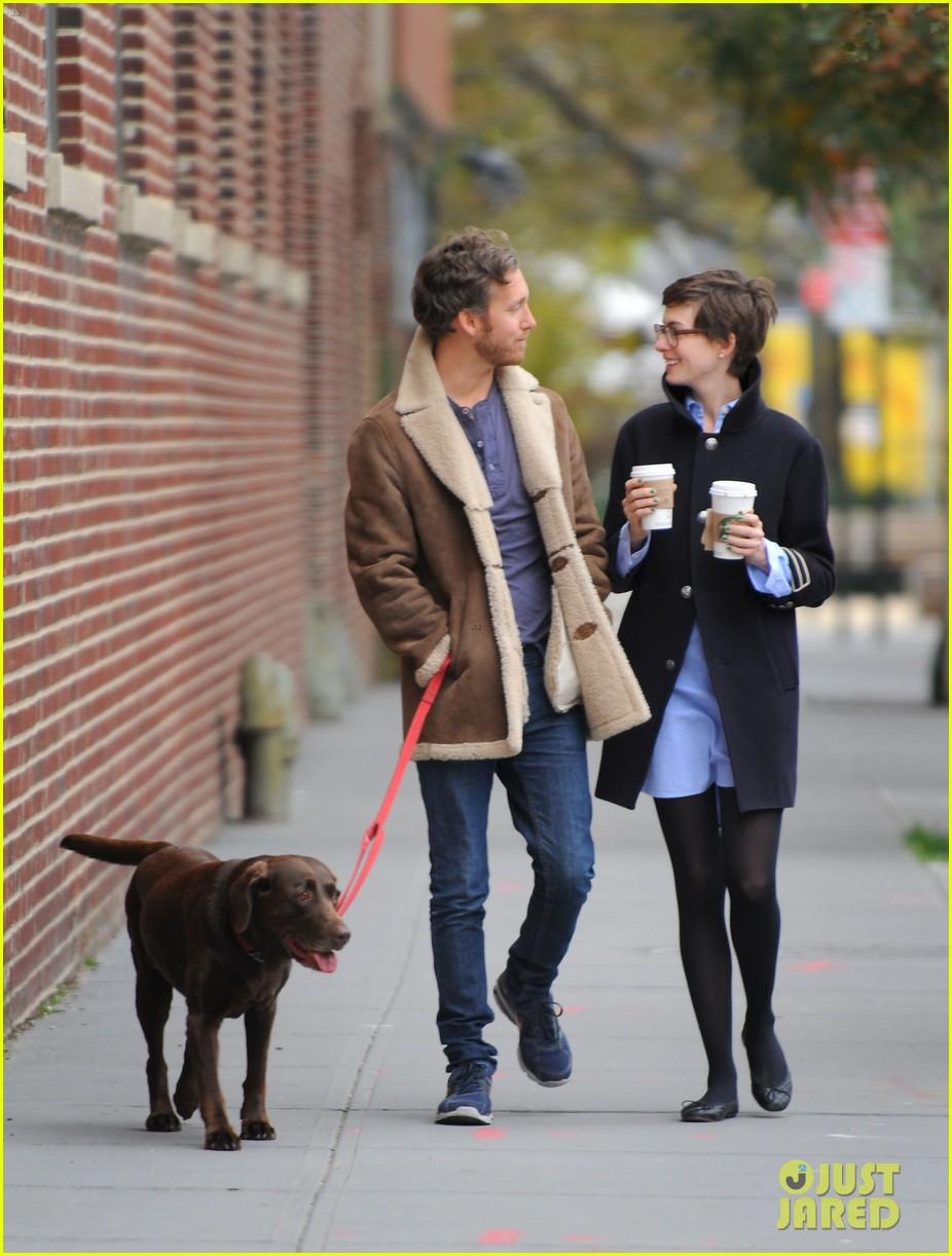 anne hathaway adam shulman coffee dog walk 172745074