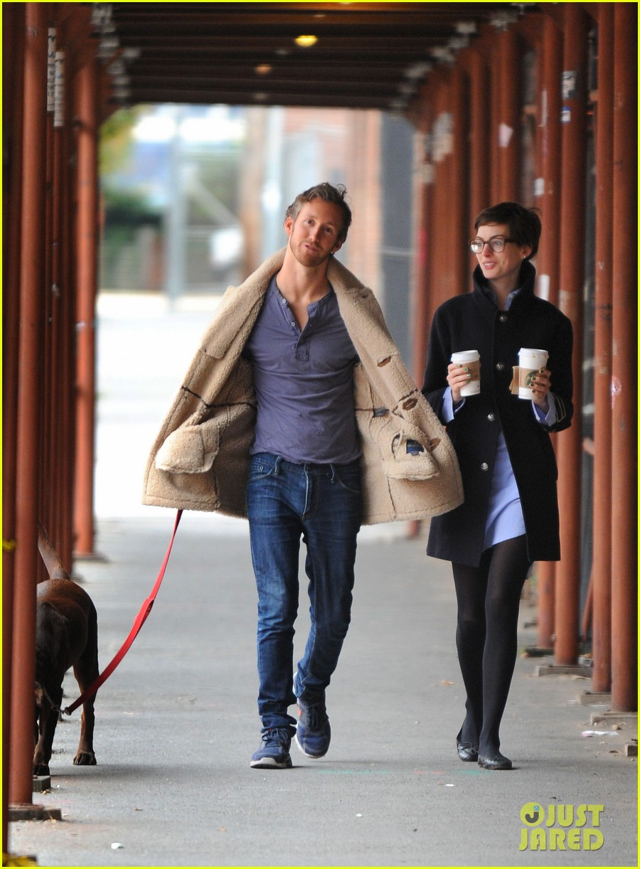 anne hathaway adam shulman coffee dog walk 202745077