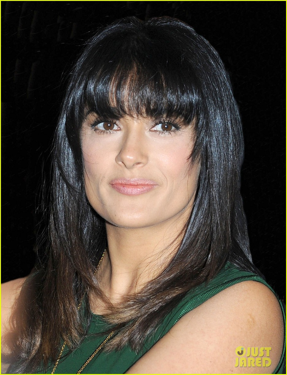 salma hayek shorter bangs 042736825