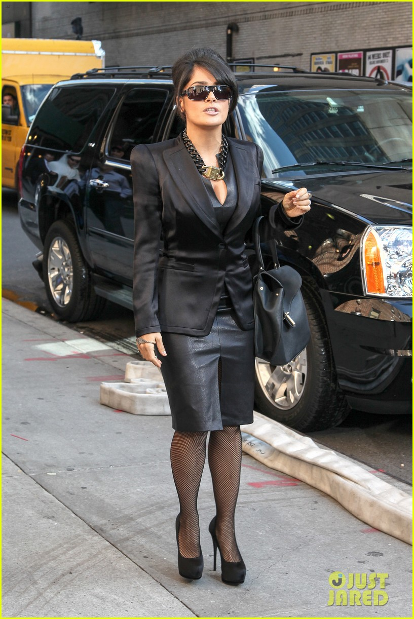 salma hayek late show with david letterman guest 142736608