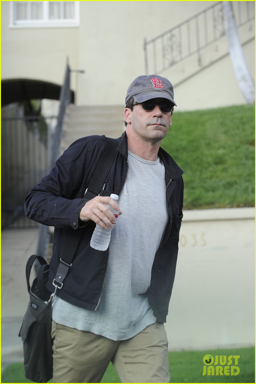christina hendricks jon hamm separate los angeles outings 042744174