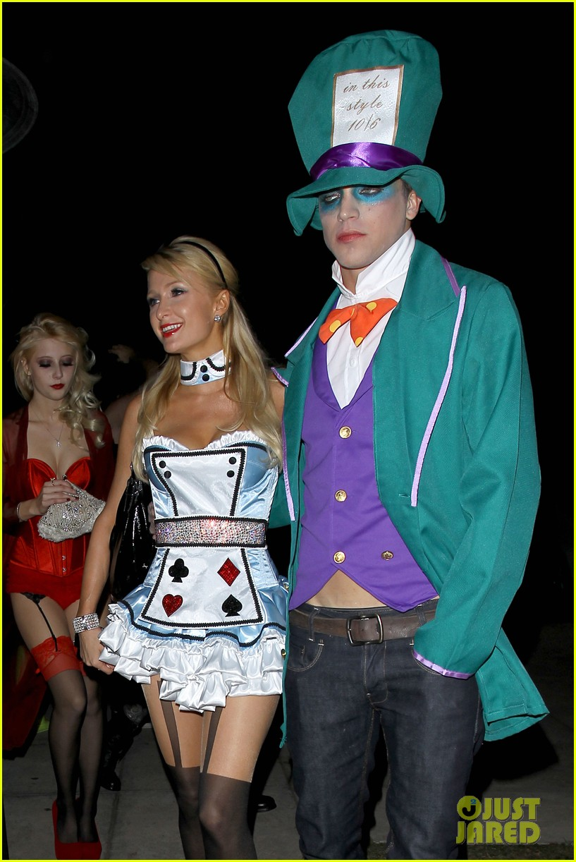 paris hilton river vilperi halloween party pair 112746869