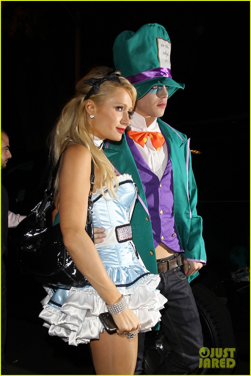 paris hilton river vilperi halloween party pair 12