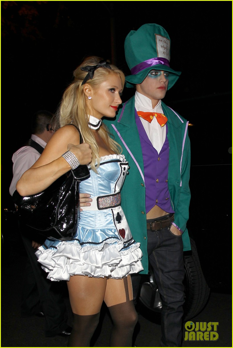 paris hilton river vilperi halloween party pair 152746873