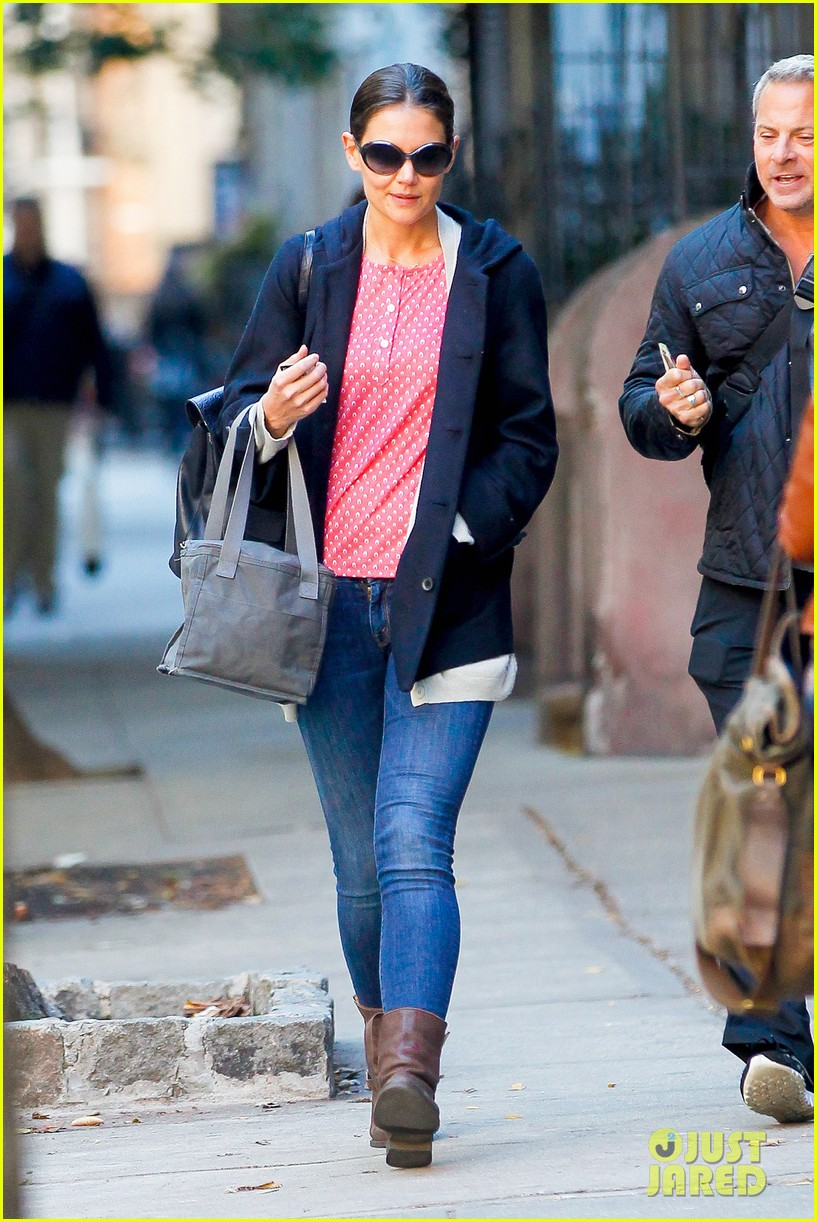 katie holmes early morning stroll with guy pal 06