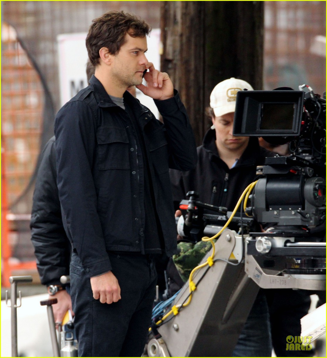 joshua jackson streches on fringe set 12