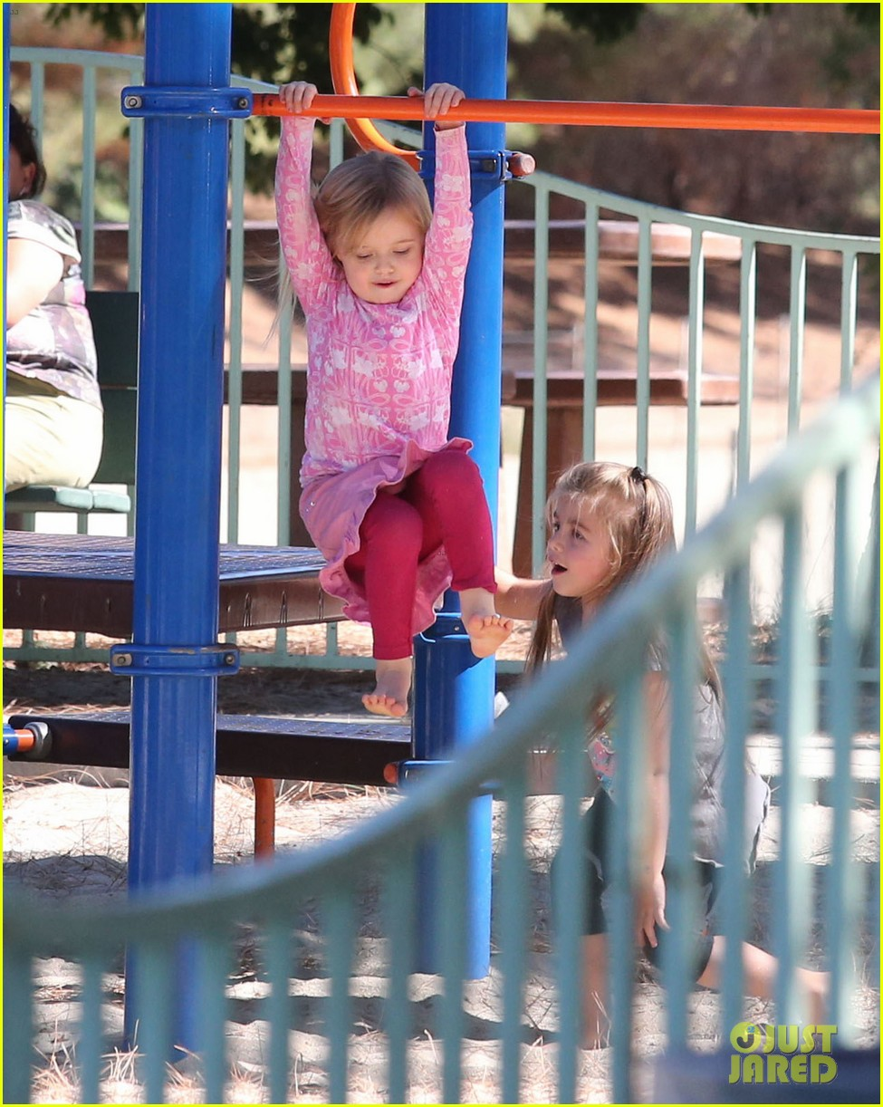 angelina jolie park playtime with knox vivienne 102746362