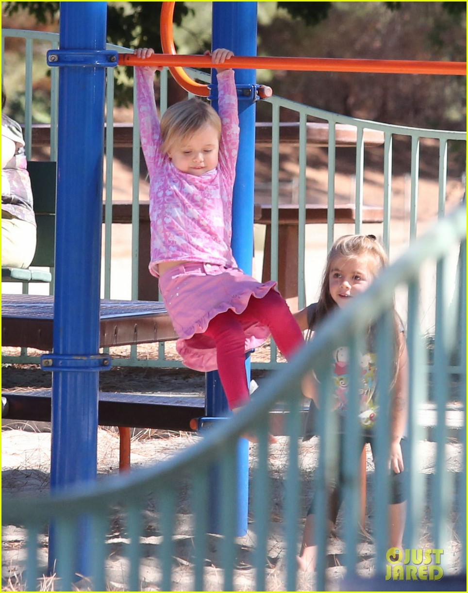 angelina jolie park playtime with knox vivienne 112746363