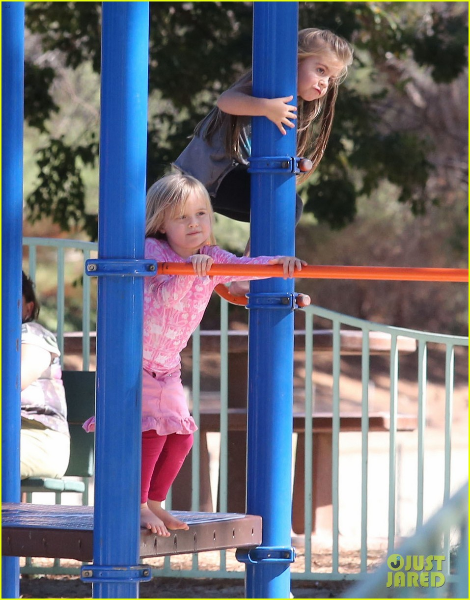 angelina jolie park playtime with knox vivienne 152746367