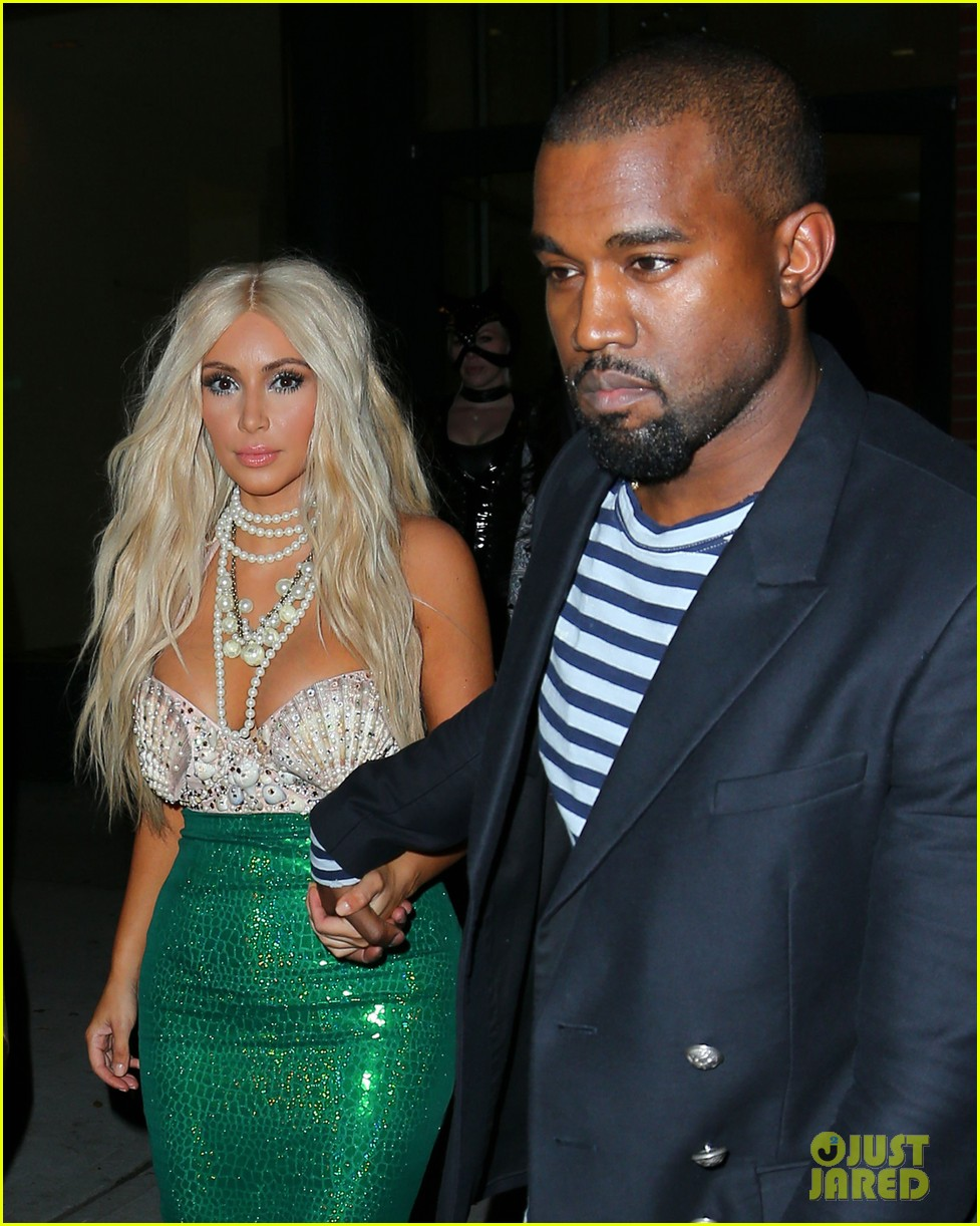 kim kardashian kanye west mermaid sailor for halloween 02