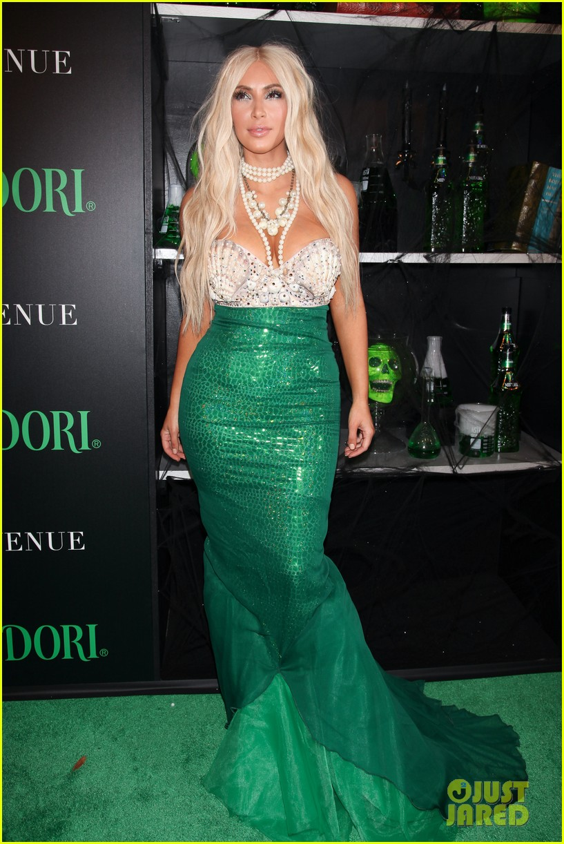 kim kardashian kanye west mermaid sailor for halloween 032746506