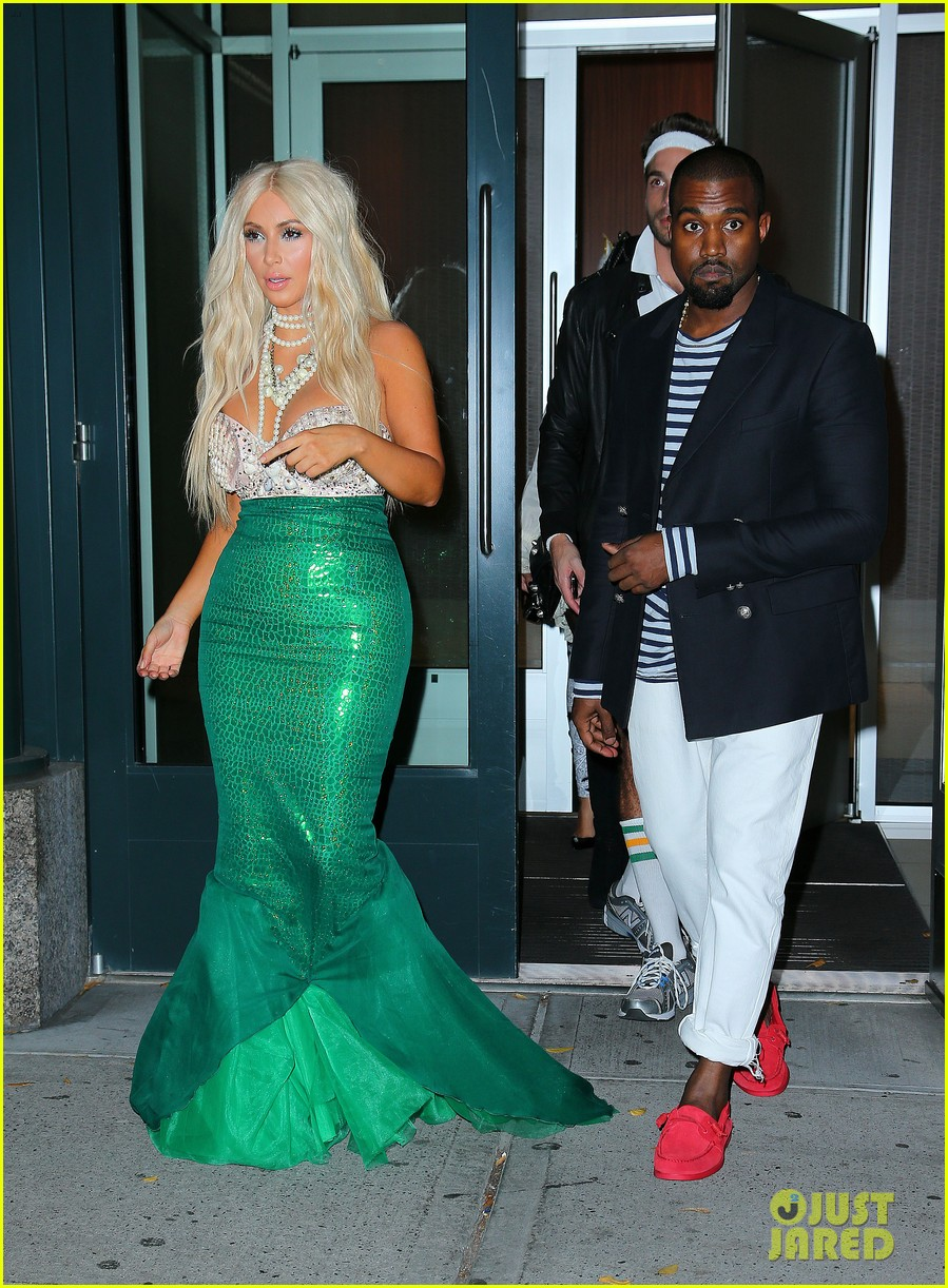 kim kardashian kanye west mermaid sailor for halloween
