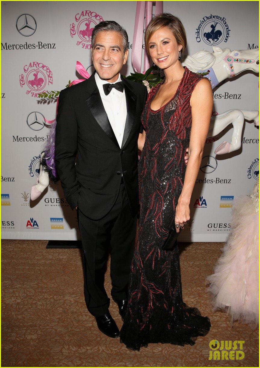george clooney carousel of hope with stacy keibler 012741816