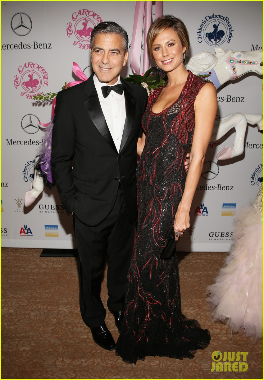 george clooney carousel of hope with stacy keibler 062741821