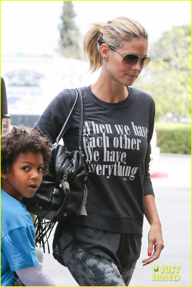 heidi klum sunday fun with  the kids 19
