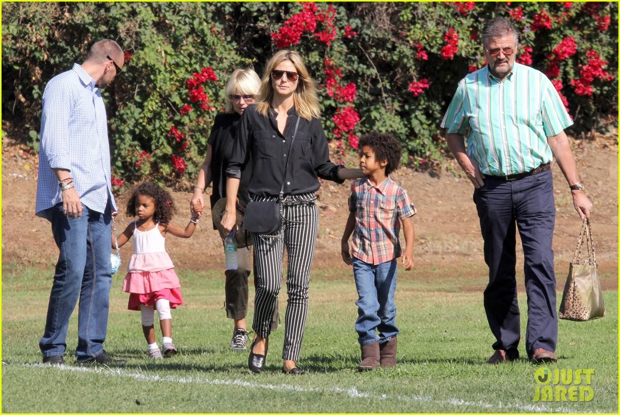 heidi klum soccer game with family 092738477