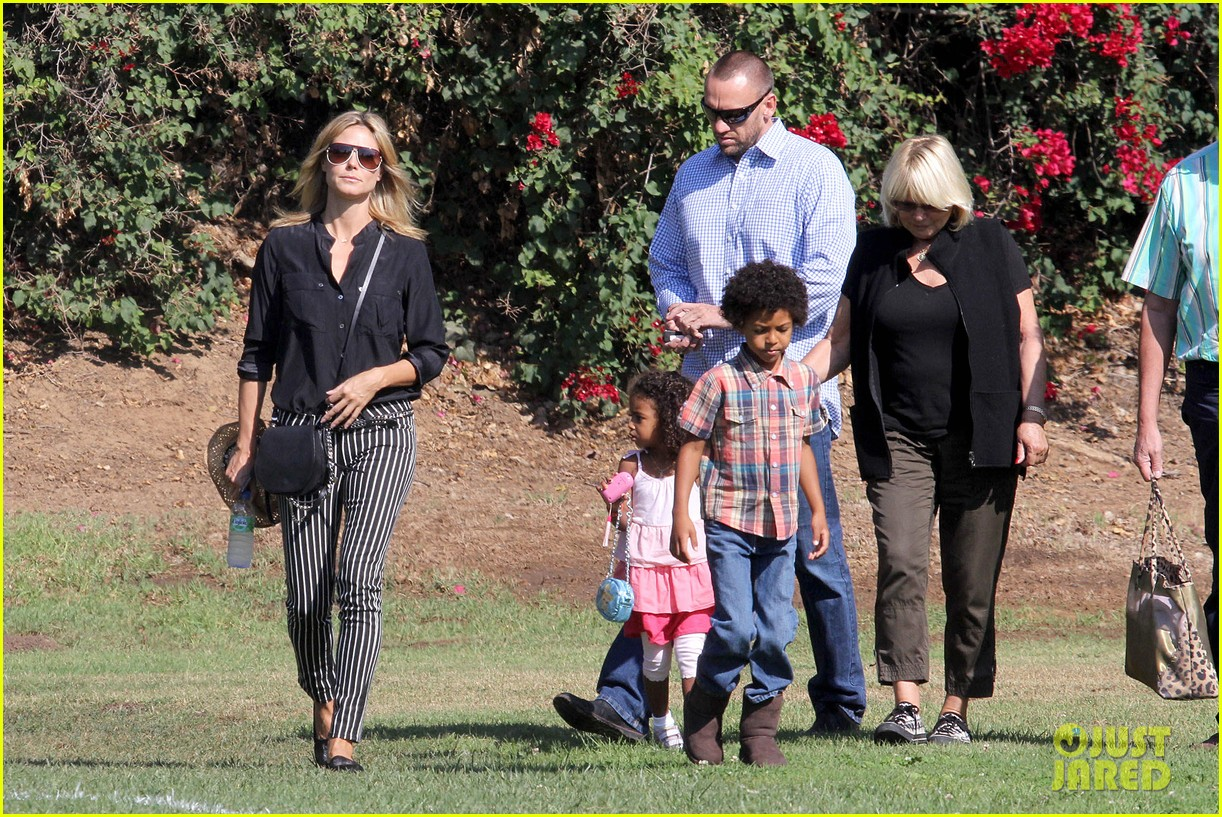 heidi klum soccer game with family 132738481