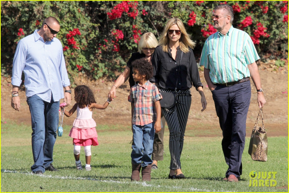 heidi klum soccer game with family 152738483