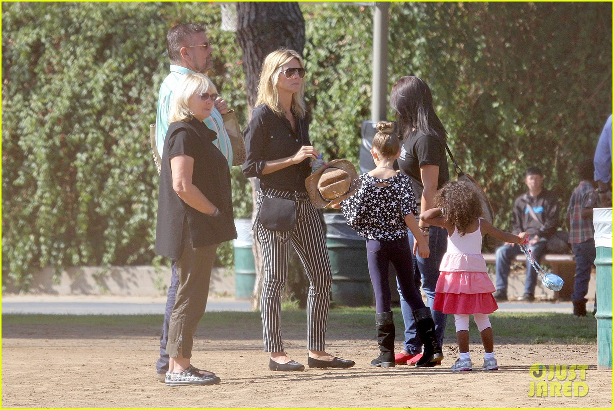 heidi klum soccer game with family 162738484