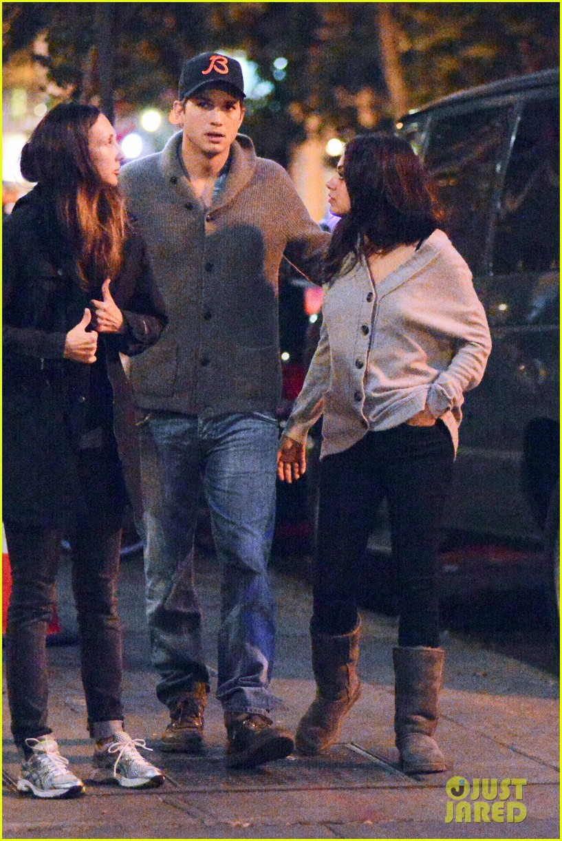 ashton kutcher mila kunis west village dinner date 172735282