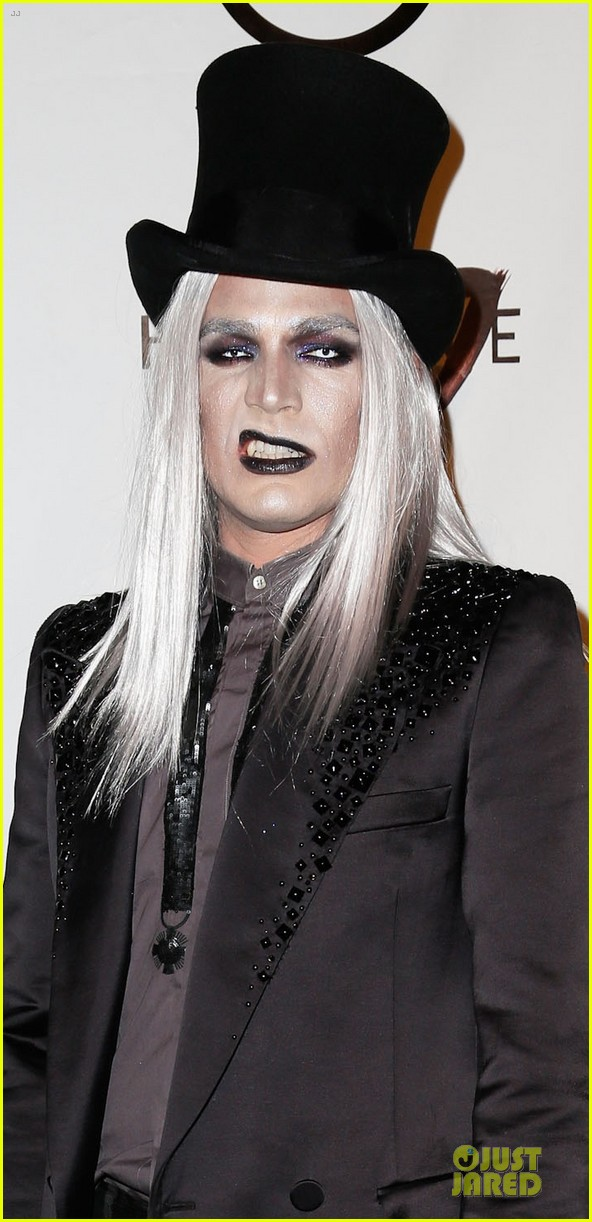 adam lambert sauli koskinen glampires for halloween charity event 02