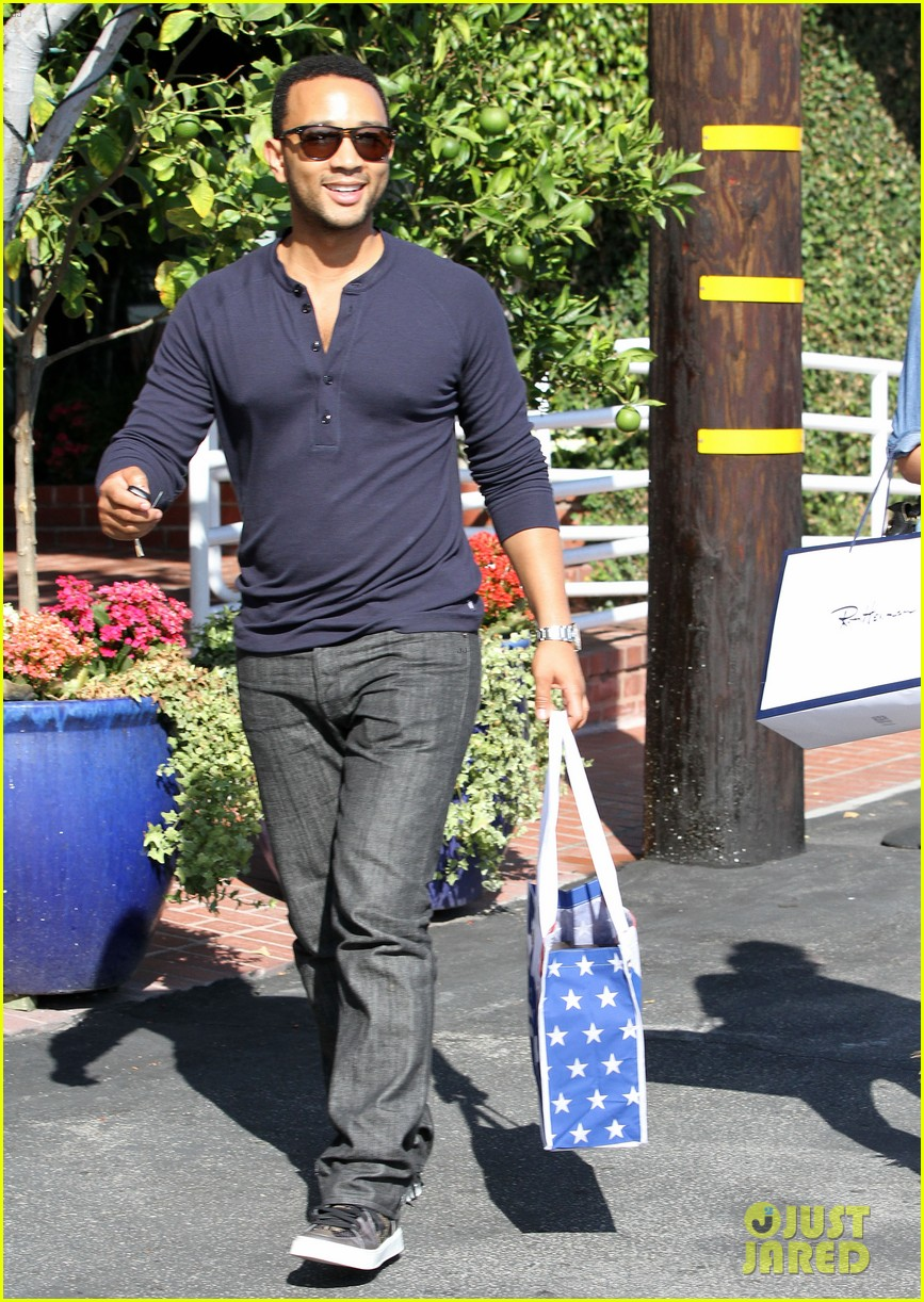 john legend chrissy teigen fred segal shoppers 252733383