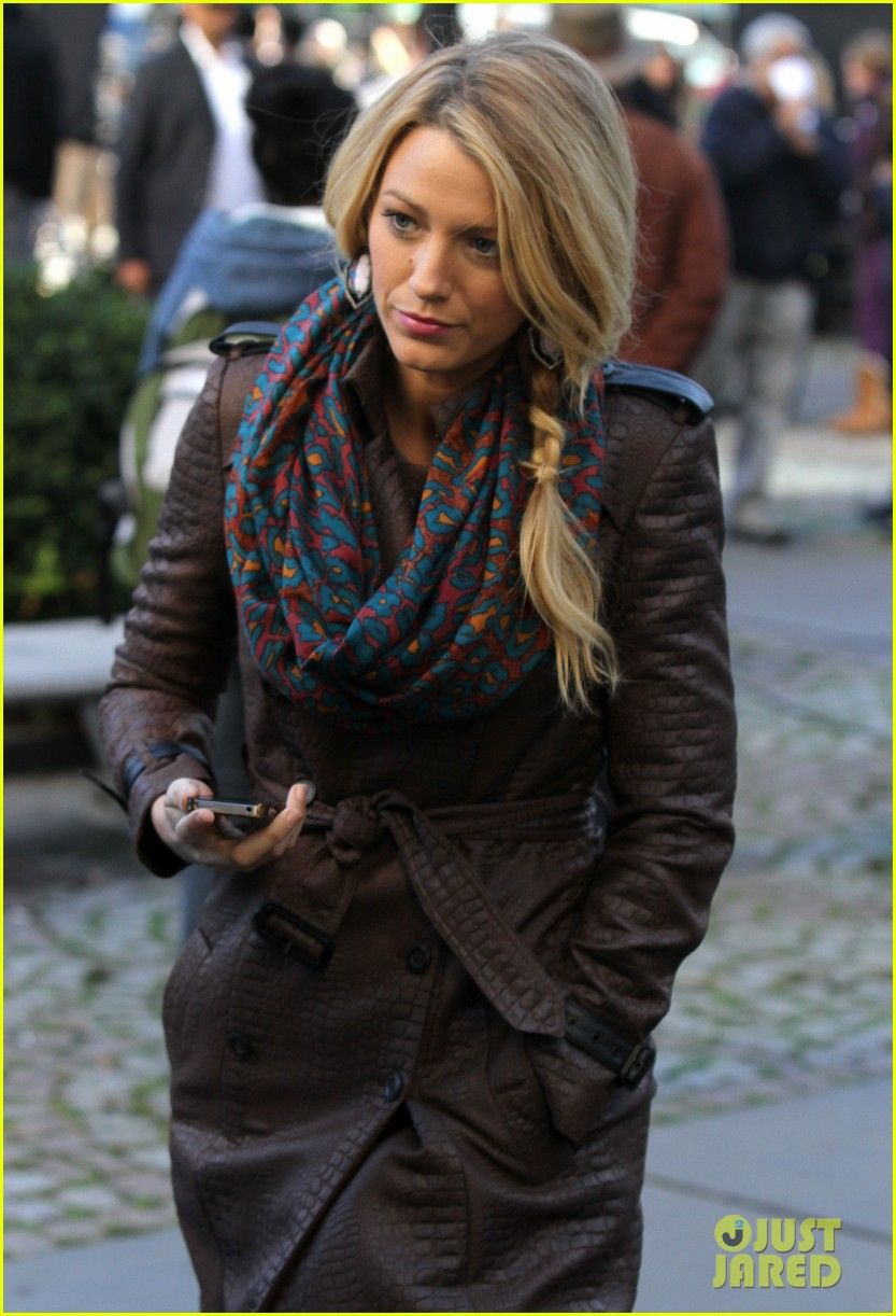 blake lively gossip girl set with leighton meester ed westwick 022731303