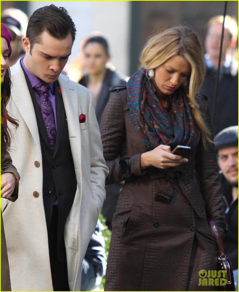blake lively gossip girl set with leighton meester ed westwick 052731306