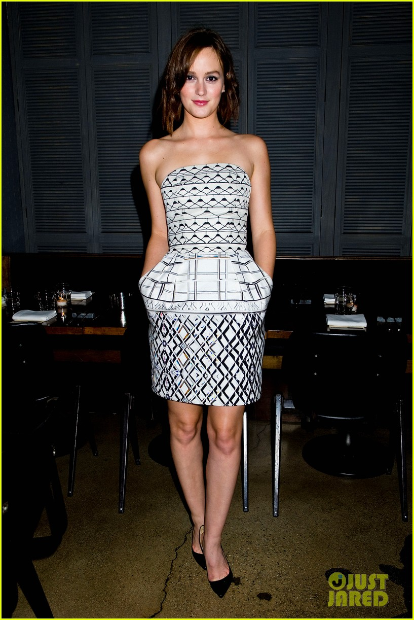 leighton meester short hair for flaunt dinner 032745285