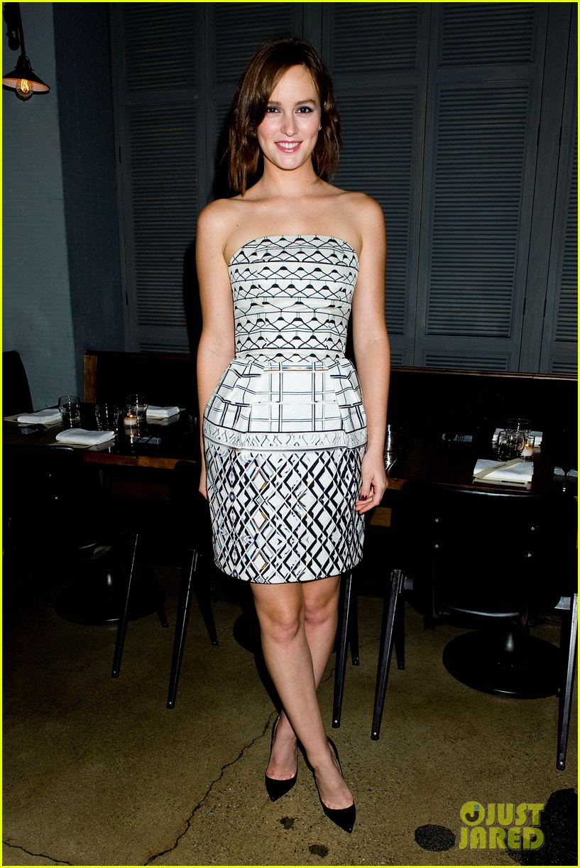 leighton meester short hair for flaunt dinner 052745287