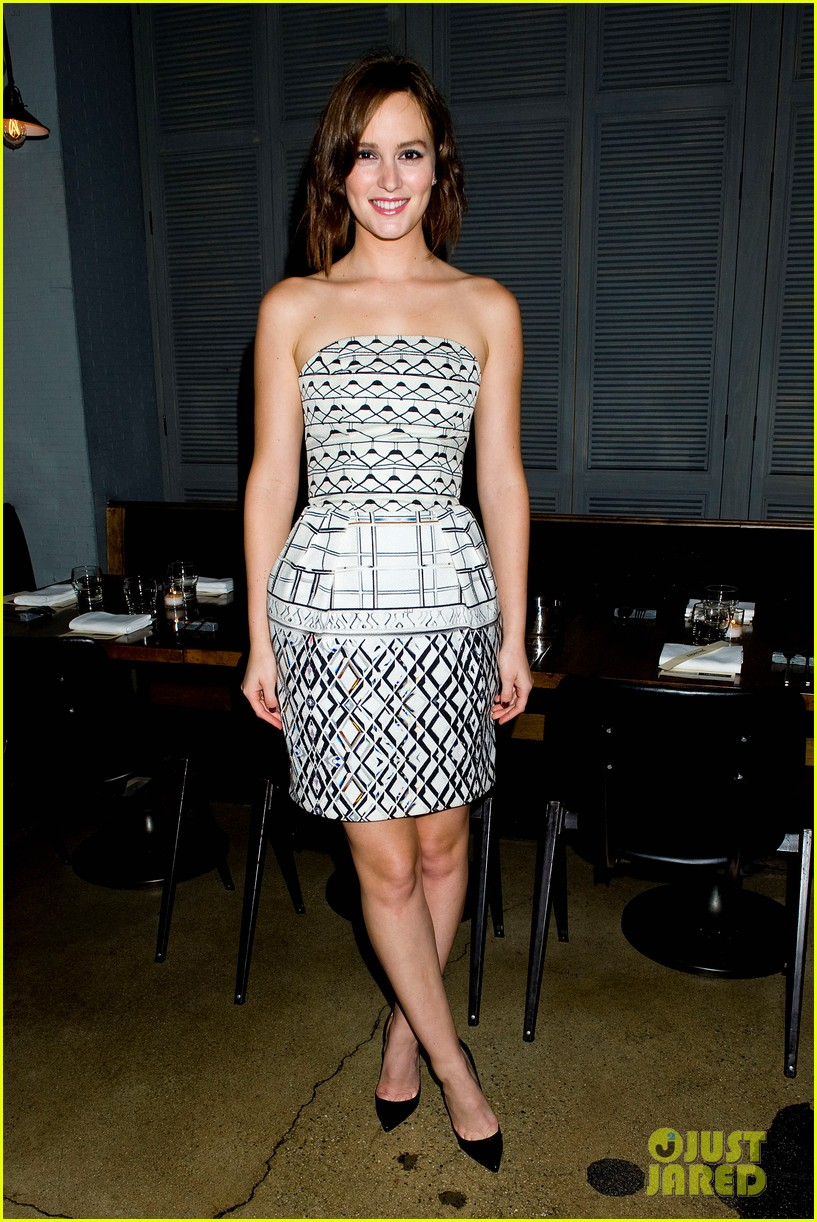 leighton meester short hair for flaunt dinner 062745288