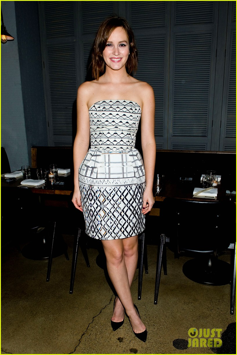 leighton meester short hair for flaunt dinner 09