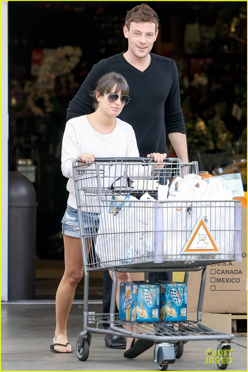 lea michele cory monteith football sunday cooking 062742247