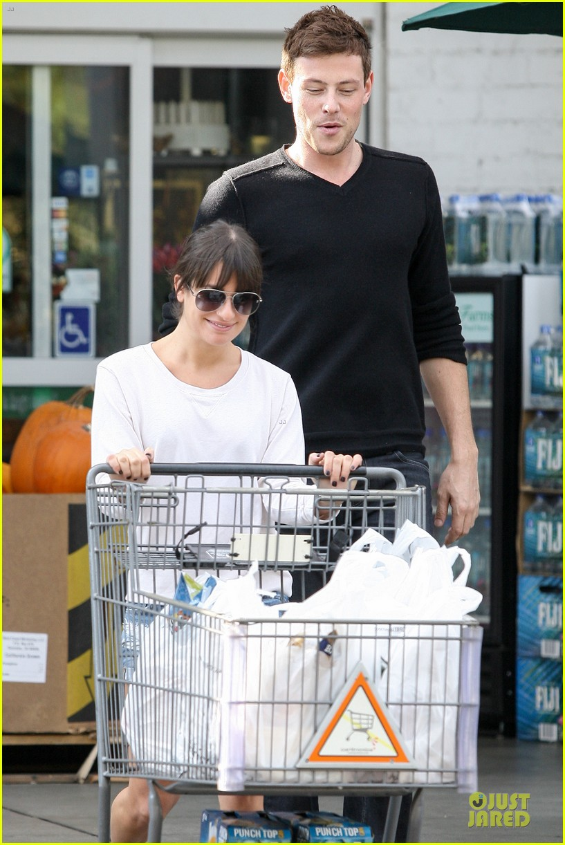 lea michele cory monteith football sunday cooking 102742251