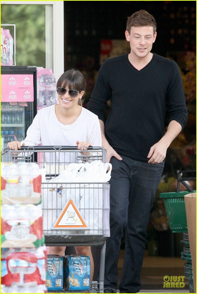 lea michele cory monteith football sunday cooking 122742253