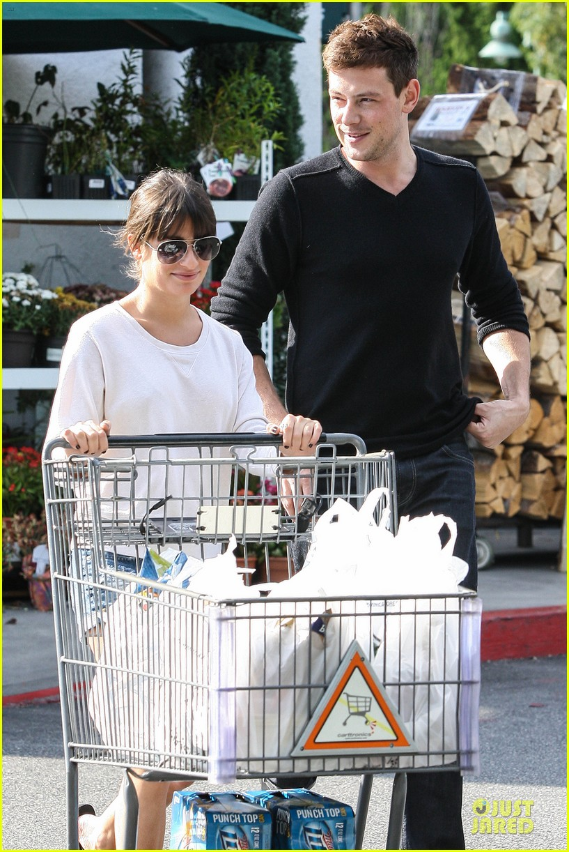 lea michele cory monteith football sunday cooking 182742259