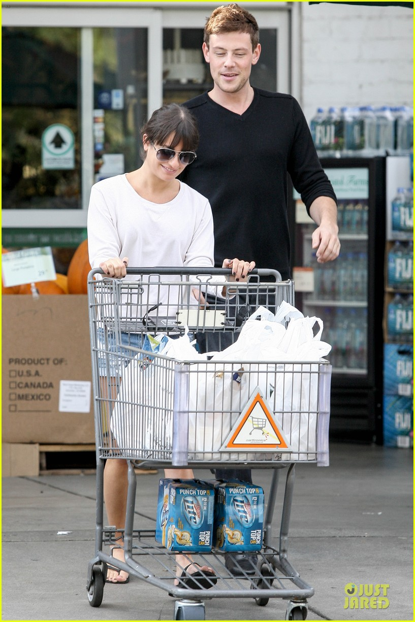 lea michele cory monteith football sunday cooking 192742260