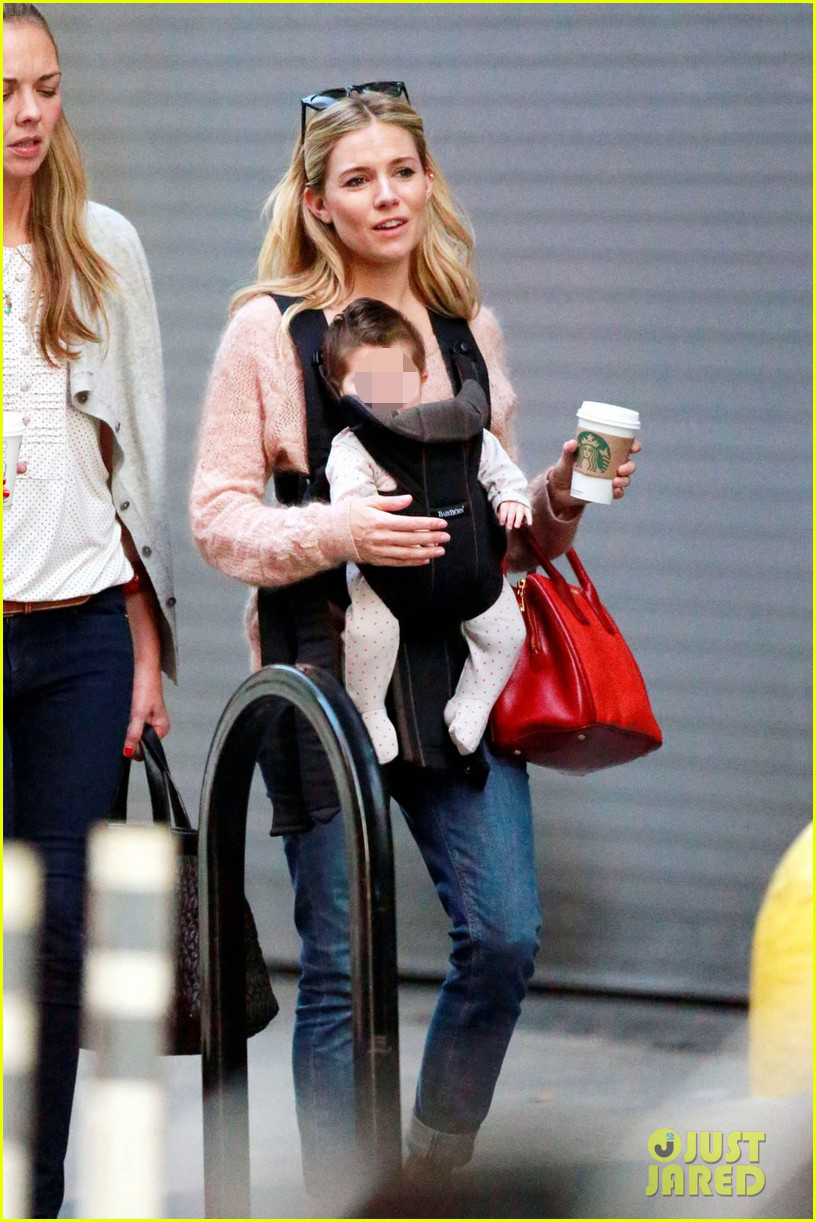 sienna miller coffee run with baby marlowe 012736269