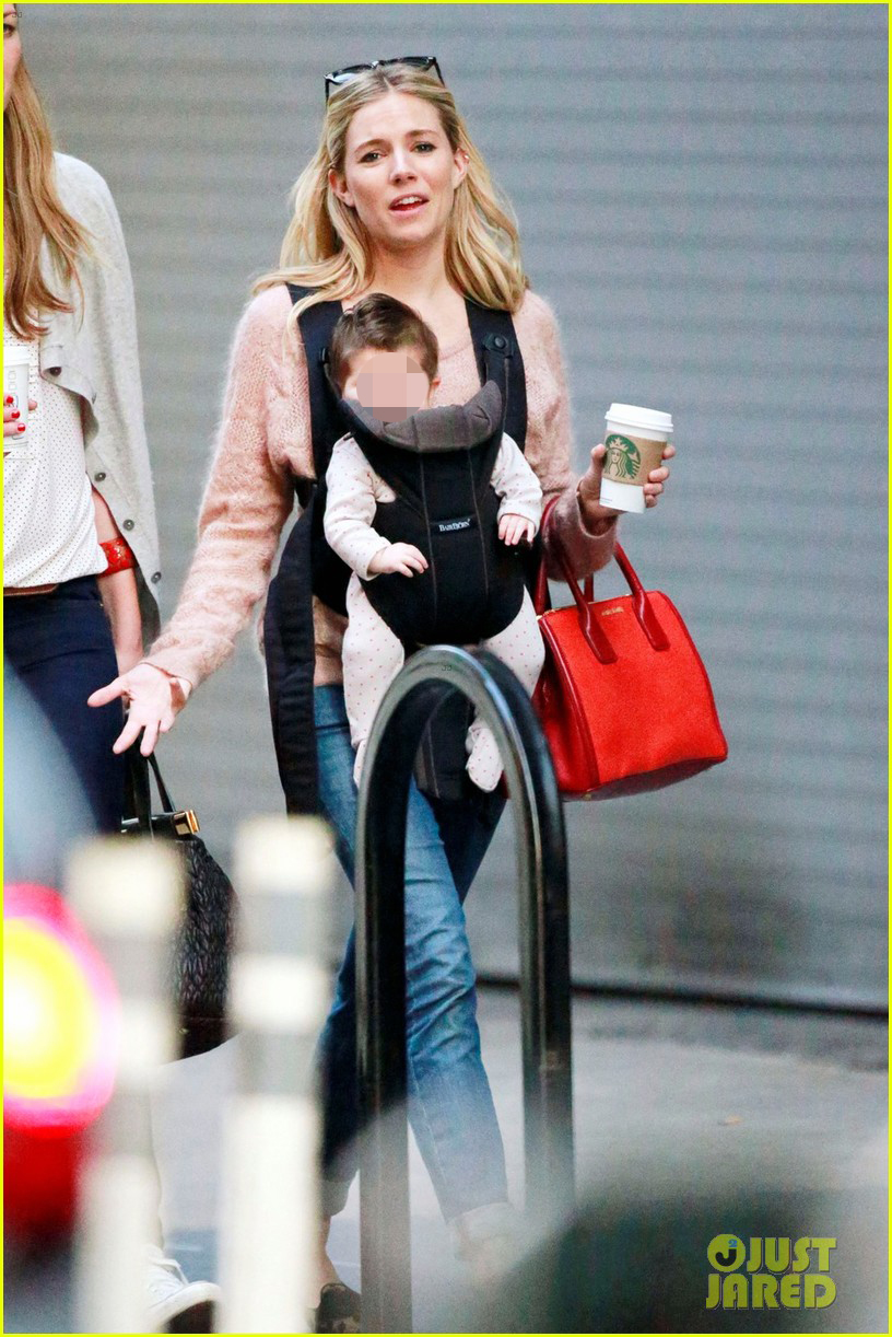 sienna miller coffee run with baby marlowe 032736271
