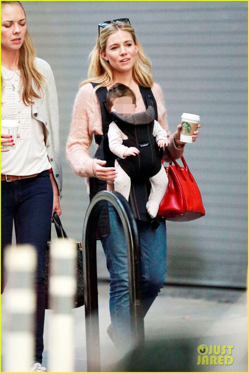 sienna miller coffee run with baby marlowe 052736273