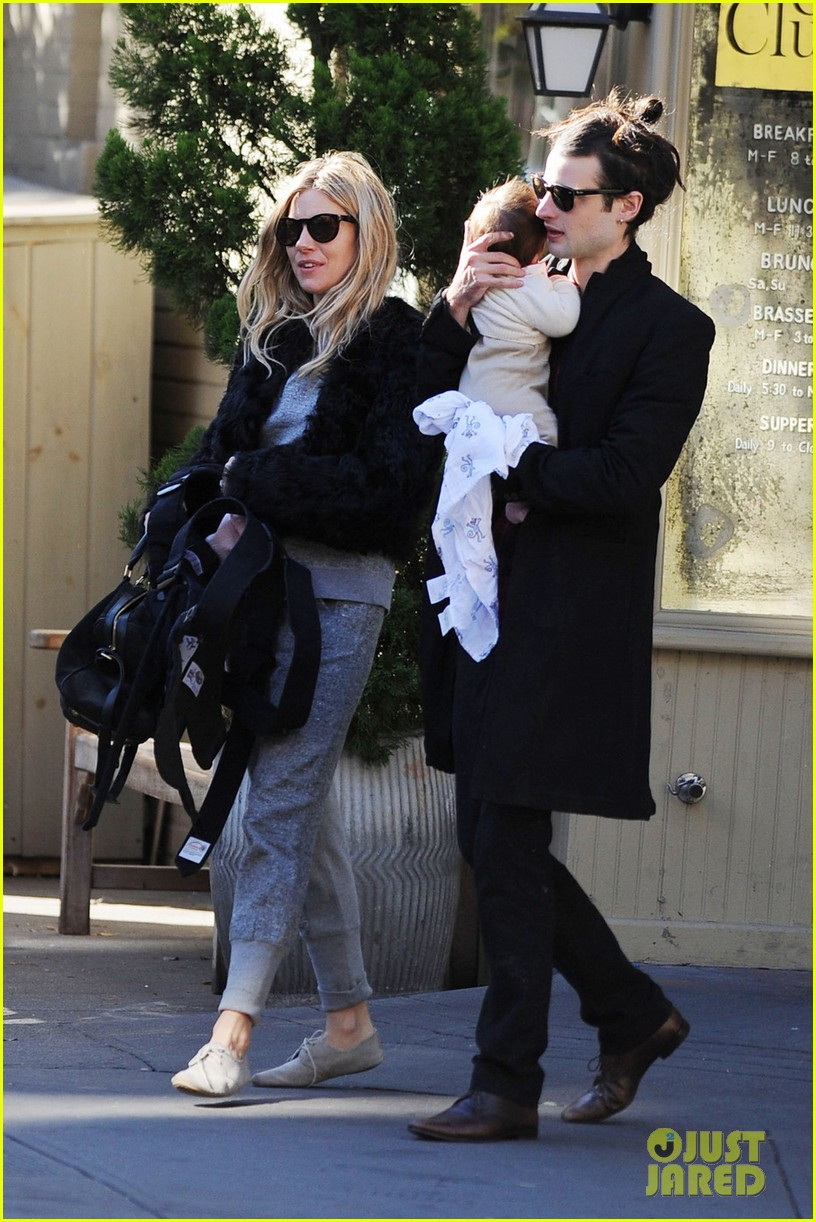 sienna miller saturday stroll with family 022737569