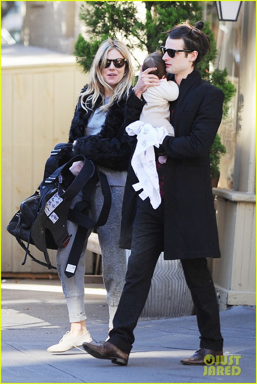 sienna miller saturday stroll with family 032737570
