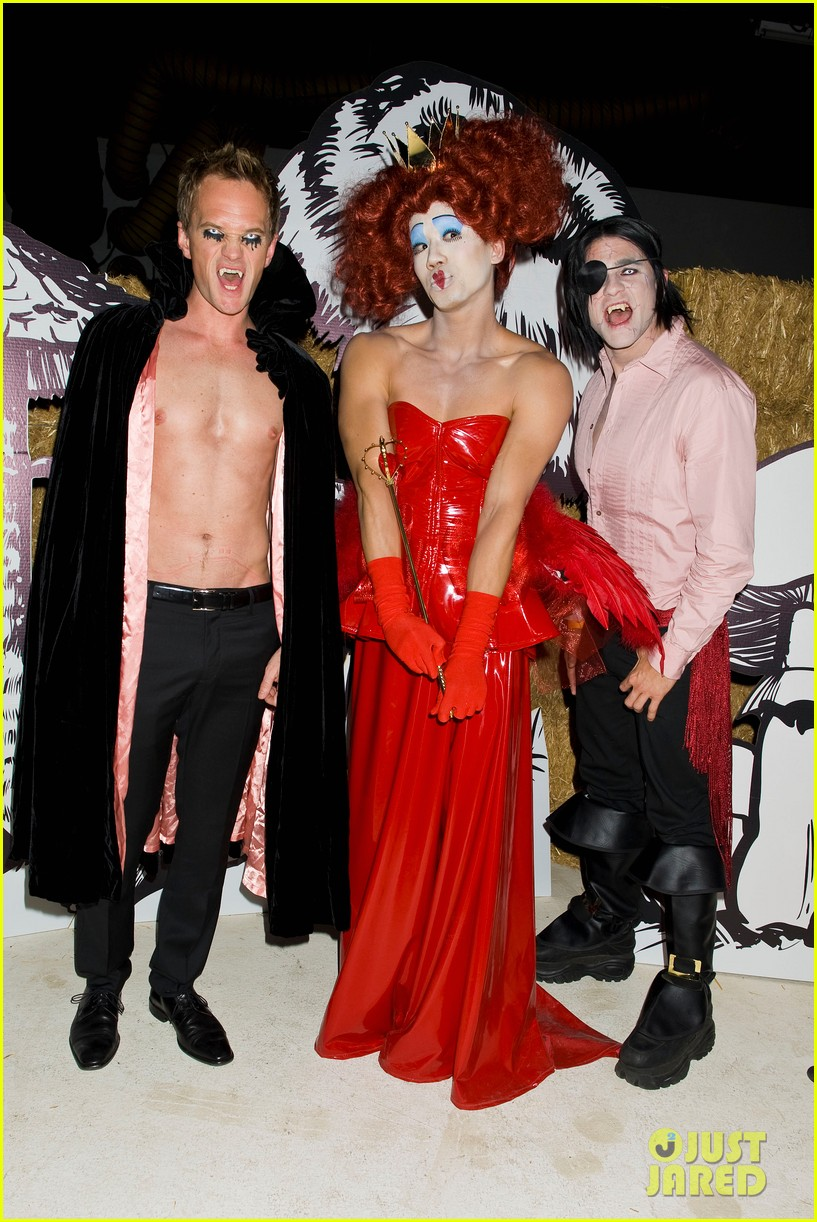 Neil Patrick Harris: Shirtless at Just Jared Halloween Party ...